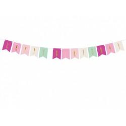 Festone Happy Birthday mix rosa