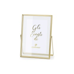 Porta foto piccolo vetro metallo oro