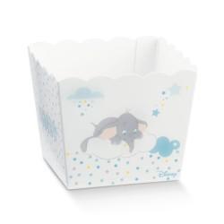 Vaso portaconfetti Dumbo azzurro