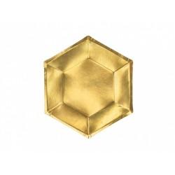 Piatto di carta oro - 6 pezzi