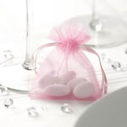 Sacchetto di organza rosa