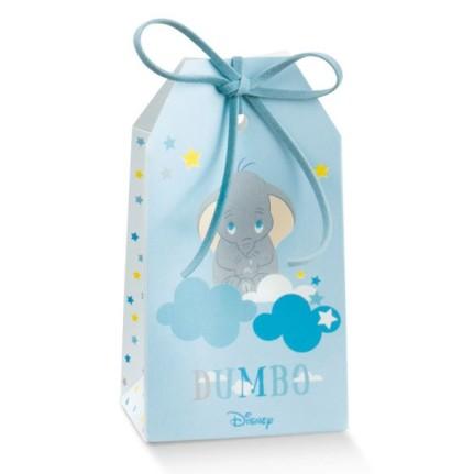 Scatola portaconfetti Tag Dumbo azzurro
