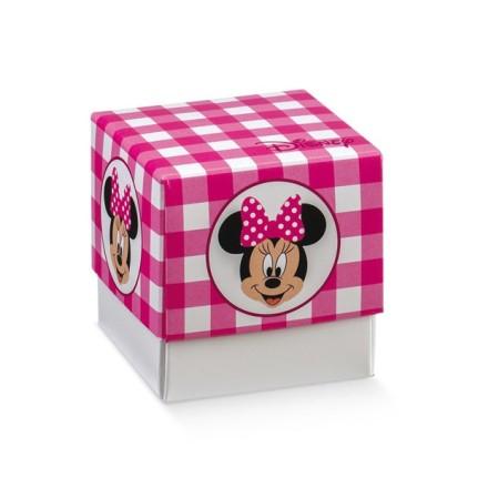 Scatola portaconfetti Minnie's Party rosa