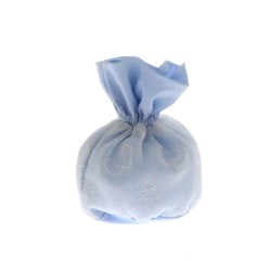 Sacchetto porta confetti pouf cielo con cuori e stelle