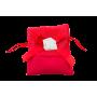 Sacchetto bicolore Rosso con tocco